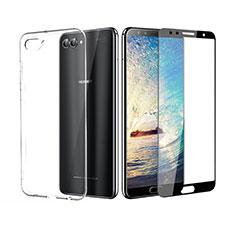 Custodia Silicone Trasparente Ultra Sottile Morbida con Pellicola Protettiva per Huawei Nova 2S Nero