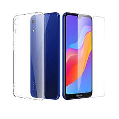 Custodia Silicone Trasparente Ultra Sottile Morbida con Pellicola Protettiva per Huawei Y6 (2019) Chiaro