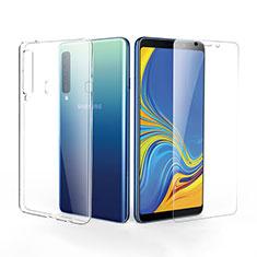 Custodia Silicone Trasparente Ultra Sottile Morbida con Pellicola Protettiva per Samsung Galaxy A9s Chiaro