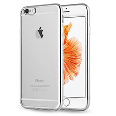 Custodia Silicone Trasparente Ultra Sottile Morbida Cover H17 per Apple iPhone 6S Argento