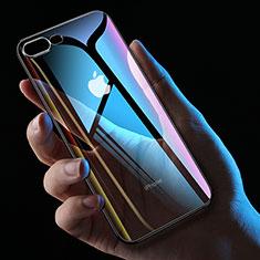 Custodia Silicone Trasparente Ultra Sottile Morbida HC01 per Apple iPhone 8 Plus Nero