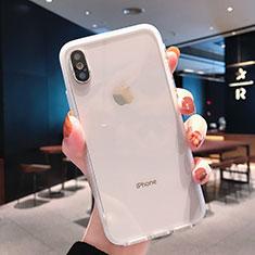 Custodia Silicone Trasparente Ultra Sottile Morbida K01 per Apple iPhone Xs Max Chiaro