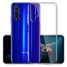 Custodia Silicone Trasparente Ultra Sottile Morbida K01 per Huawei Honor 20 Chiaro