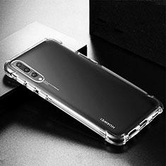 Custodia Silicone Trasparente Ultra Sottile Morbida K01 per Huawei P20 Pro Chiaro