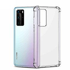 Custodia Silicone Trasparente Ultra Sottile Morbida K01 per Huawei P40 Pro Chiaro
