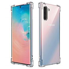 Custodia Silicone Trasparente Ultra Sottile Morbida K01 per Samsung Galaxy Note 10 5G Chiaro