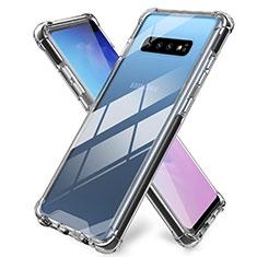 Custodia Silicone Trasparente Ultra Sottile Morbida K01 per Samsung Galaxy S10 Plus Chiaro