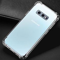 Custodia Silicone Trasparente Ultra Sottile Morbida K01 per Samsung Galaxy S10e Chiaro