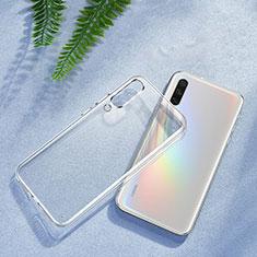 Custodia Silicone Trasparente Ultra Sottile Morbida K01 per Xiaomi Mi A3 Chiaro