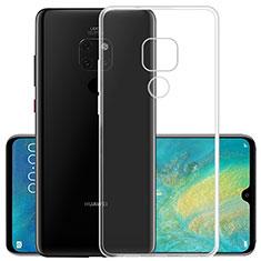 Custodia Silicone Trasparente Ultra Sottile Morbida K02 per Huawei Mate 20 X 5G Chiaro