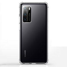 Custodia Silicone Trasparente Ultra Sottile Morbida K02 per Huawei P40 Chiaro