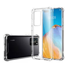 Custodia Silicone Trasparente Ultra Sottile Morbida K02 per Huawei P40 Pro Chiaro