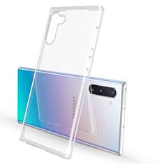 Custodia Silicone Trasparente Ultra Sottile Morbida K02 per Samsung Galaxy Note 10 5G Chiaro