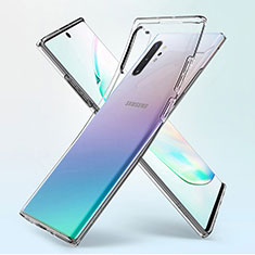 Custodia Silicone Trasparente Ultra Sottile Morbida K02 per Samsung Galaxy Note 10 Plus 5G Chiaro