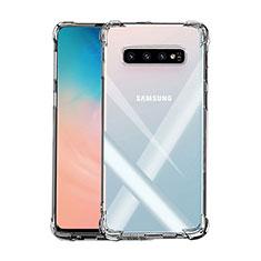 Custodia Silicone Trasparente Ultra Sottile Morbida K02 per Samsung Galaxy S10 Plus Chiaro