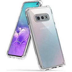 Custodia Silicone Trasparente Ultra Sottile Morbida K02 per Samsung Galaxy S10e Chiaro