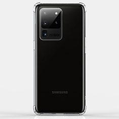 Custodia Silicone Trasparente Ultra Sottile Morbida K02 per Samsung Galaxy S20 Ultra Chiaro