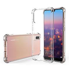 Custodia Silicone Trasparente Ultra Sottile Morbida K03 per Huawei P20 Chiaro