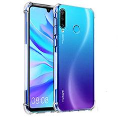 Custodia Silicone Trasparente Ultra Sottile Morbida K03 per Huawei P30 Lite Chiaro