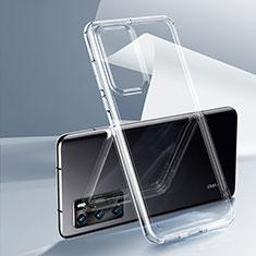 Custodia Silicone Trasparente Ultra Sottile Morbida K03 per Huawei P40 Chiaro