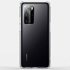 Custodia Silicone Trasparente Ultra Sottile Morbida K03 per Huawei P40 Pro Chiaro