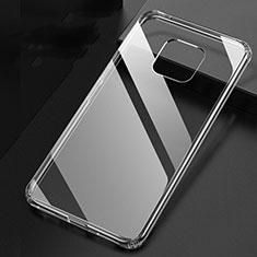 Custodia Silicone Trasparente Ultra Sottile Morbida K04 per Huawei Mate 20 Pro Chiaro