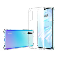 Custodia Silicone Trasparente Ultra Sottile Morbida K06 per Huawei P30 Chiaro