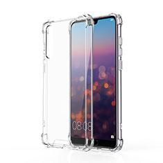Custodia Silicone Trasparente Ultra Sottile Morbida K10 per Huawei P20 Pro Chiaro