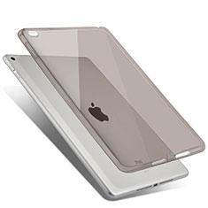 Custodia Silicone Trasparente Ultra Sottile Morbida per Apple iPad Air 2 Grigio