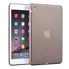 Custodia Silicone Trasparente Ultra Sottile Morbida per Apple iPad Mini 2 Grigio