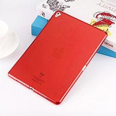 Custodia Silicone Trasparente Ultra Sottile Morbida per Apple iPad Pro 9.7 Rosso