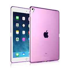 Custodia Silicone Trasparente Ultra Sottile Morbida per Apple iPad Pro 9.7 Viola