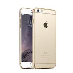 Custodia Silicone Trasparente Ultra Sottile Morbida per Apple iPhone 6 Oro