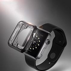 Custodia Silicone Trasparente Ultra Sottile Morbida per Apple iWatch 42mm Nero