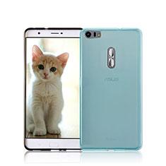 Custodia Silicone Trasparente Ultra Sottile Morbida per Asus Zenfone 3 Ultra ZU680KL Blu