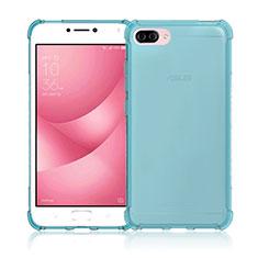 Custodia Silicone Trasparente Ultra Sottile Morbida per Asus Zenfone 4 Max ZC554KL Blu
