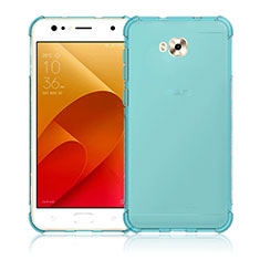 Custodia Silicone Trasparente Ultra Sottile Morbida per Asus Zenfone 4 Selfie ZD553KL Blu