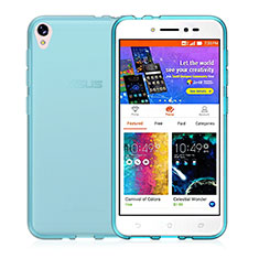 Custodia Silicone Trasparente Ultra Sottile Morbida per Asus Zenfone Live ZB501KL Blu