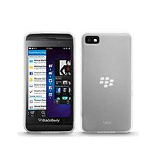 Custodia Silicone Trasparente Ultra Sottile Morbida per Blackberry Z10 Bianco