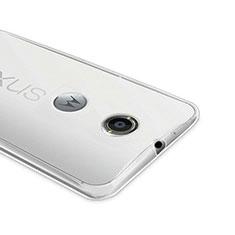 Custodia Silicone Trasparente Ultra Sottile Morbida per Google Nexus 6 Chiaro