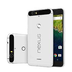 Custodia Silicone Trasparente Ultra Sottile Morbida per Google Nexus 6P Chiaro