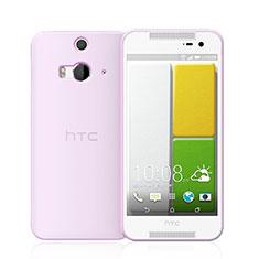 Custodia Silicone Trasparente Ultra Sottile Morbida per HTC Butterfly 2 Rosa