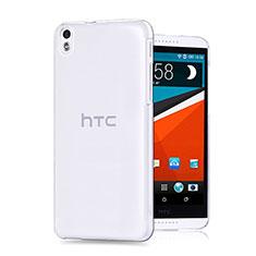 Custodia Silicone Trasparente Ultra Sottile Morbida per HTC Desire 816 Chiaro
