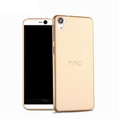 Custodia Silicone Trasparente Ultra Sottile Morbida per HTC Desire 826 826T 826W Oro