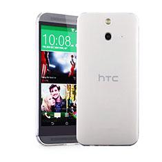 Custodia Silicone Trasparente Ultra Sottile Morbida per HTC One E8 Chiaro