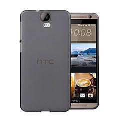 Custodia Silicone Trasparente Ultra Sottile Morbida per HTC One E9 Plus Grigio