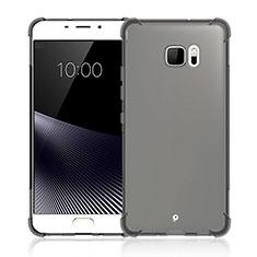 Custodia Silicone Trasparente Ultra Sottile Morbida per HTC U Ultra Grigio