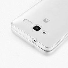 Custodia Silicone Trasparente Ultra Sottile Morbida per Huawei Ascend GX1 Chiaro