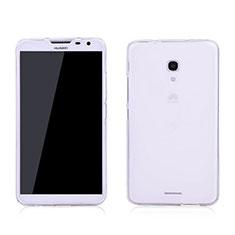 Custodia Silicone Trasparente Ultra Sottile Morbida per Huawei Ascend Mate 2 Bianco
