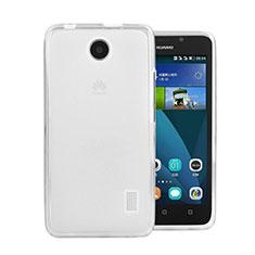 Custodia Silicone Trasparente Ultra Sottile Morbida per Huawei Ascend Y635 Dual SIM Bianco